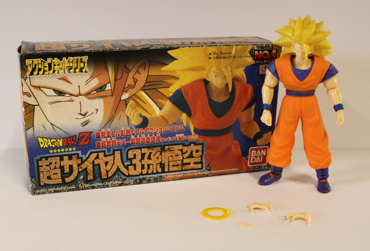 BanDai (1996) Dragon Ball Z Full Action Kit Series No.4 Super Saiyan 3 Son Gokou (open package)