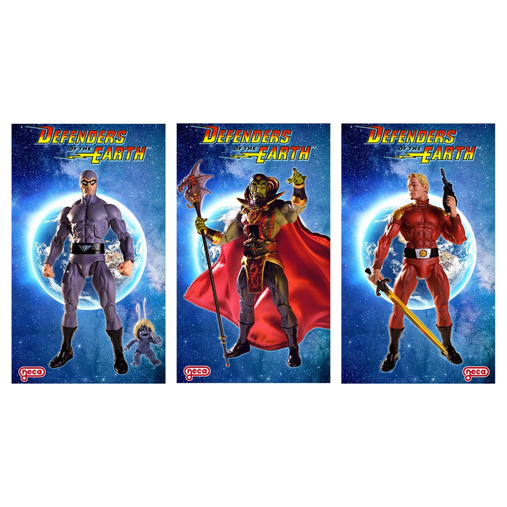 """NECA Defenders of the Earth 7"""" Scale Action Figure Set of 3"""