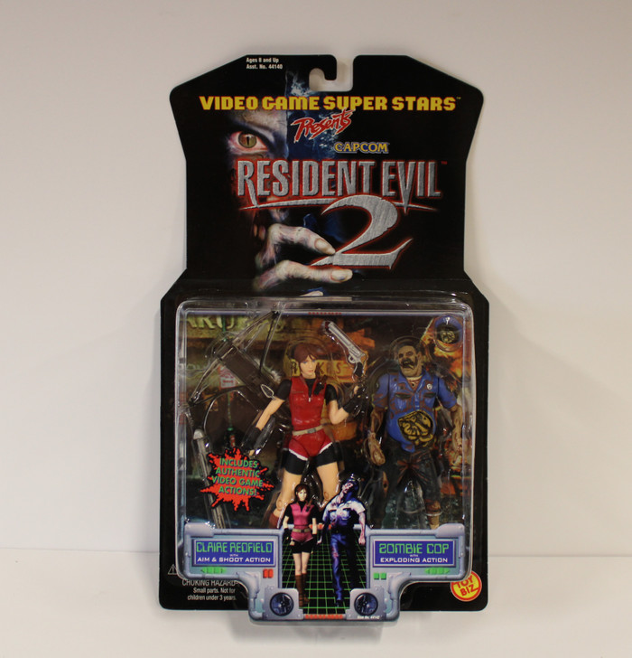 ToyBiz Resident Evil 2 Claire Redfield with Zombie Cop action figure