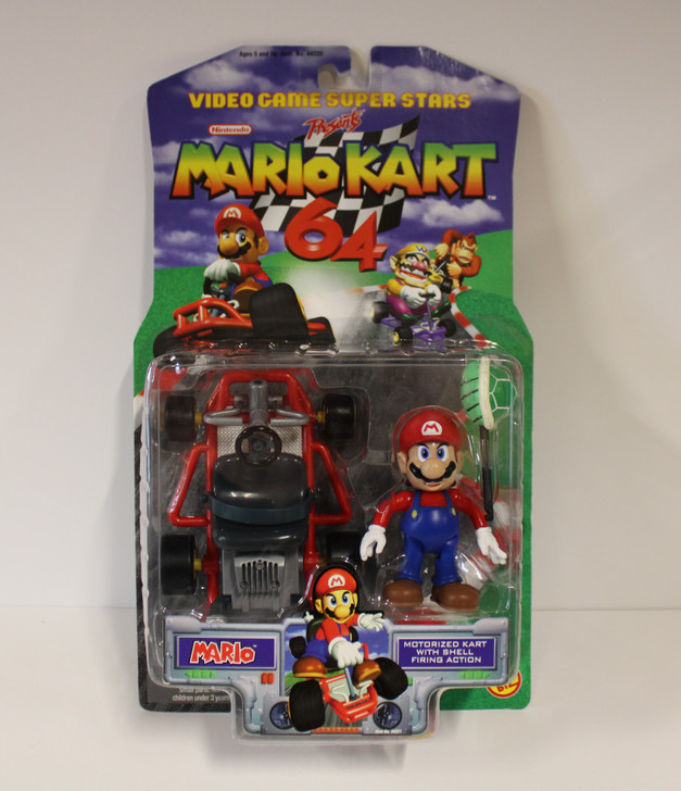 ToyBiz Video Game Superstars Mario Cart 64 Mario action figure
