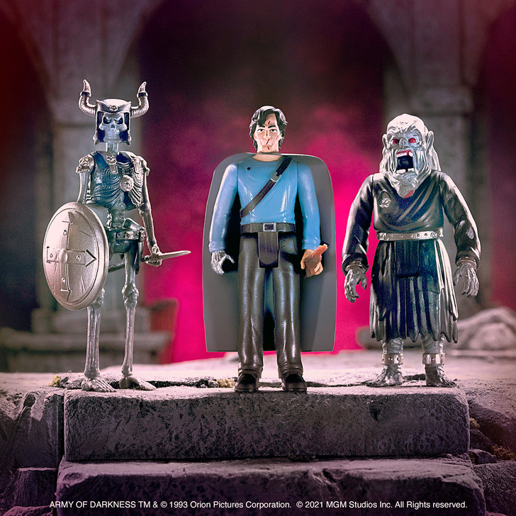 """Super7 Army of Darkness Wave 2 Set of three 3.75"""" ReAction Figures"""