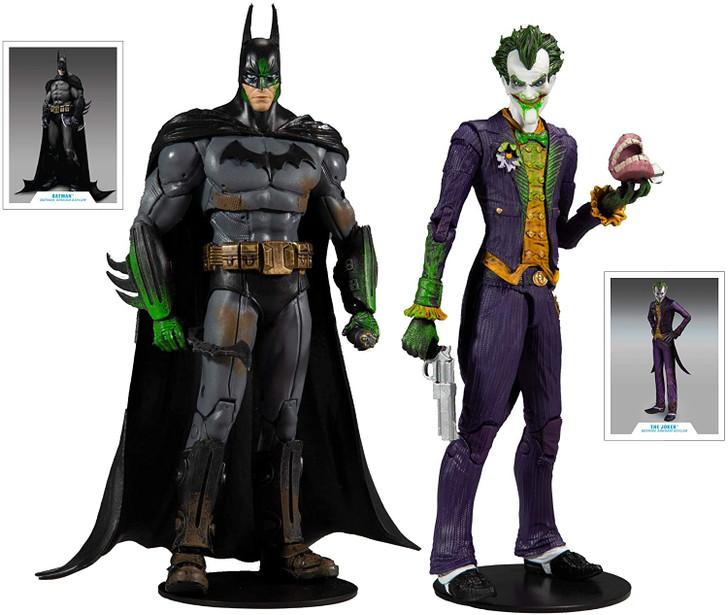 McFarlane DC Multiverse Arkham Asylum Batman and Joker 7in Action Figure set