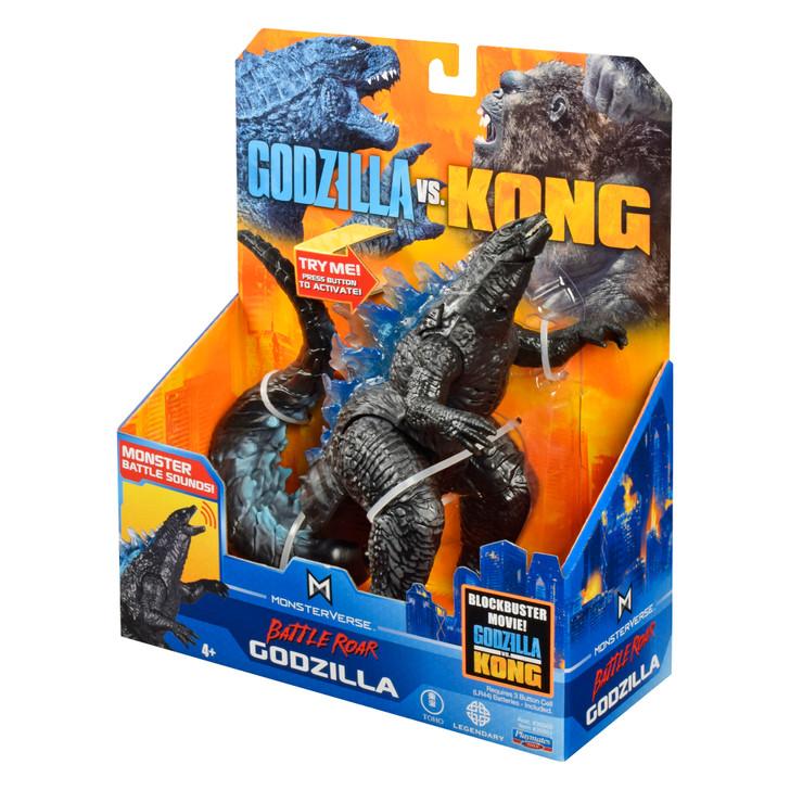 Playmates  Godzilla vs Kong Deluxe Battle Roar Godzilla with Sound