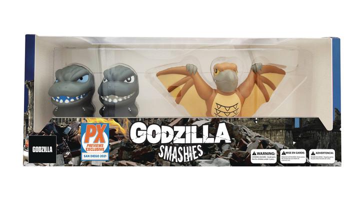 Godzilla Smashies SDCC 2021 exclusive stress doll 3 pack