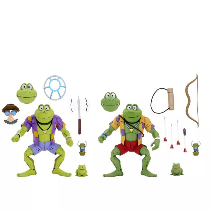 "NECA Teenage Mutant Ninja Turtles (Cartoon) – 7"" Scale Action Figure –Genghis & Rasputin Frog  2 pack"