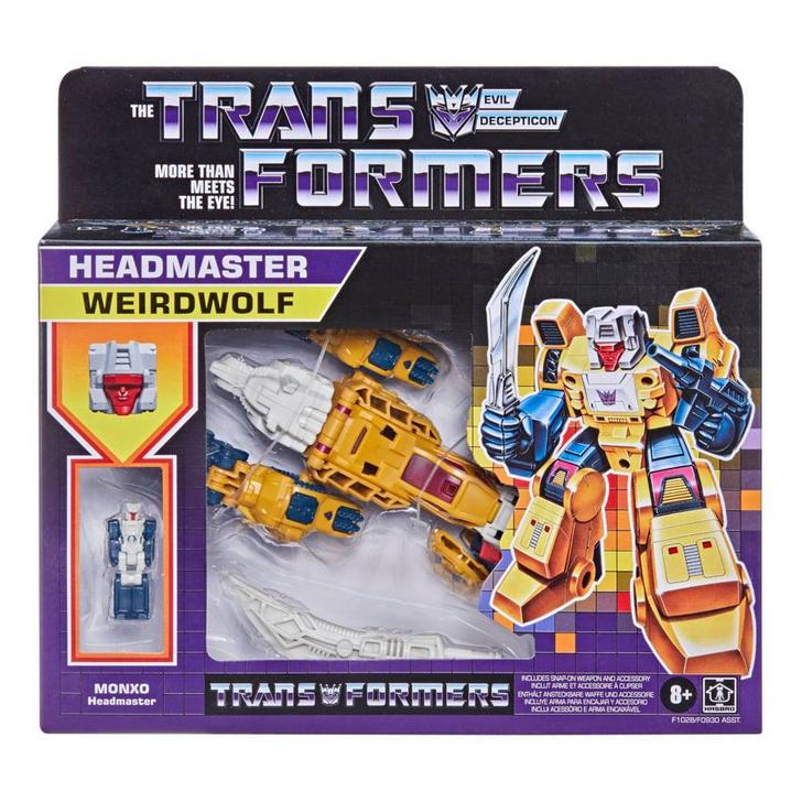 Hasbro Transformers Generations Deluxe Retro Headmaster Weirdwolf