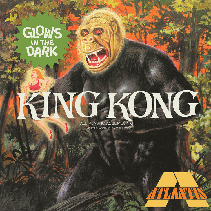King Kong (Aurora Reissue) Model Kit with Glow parts