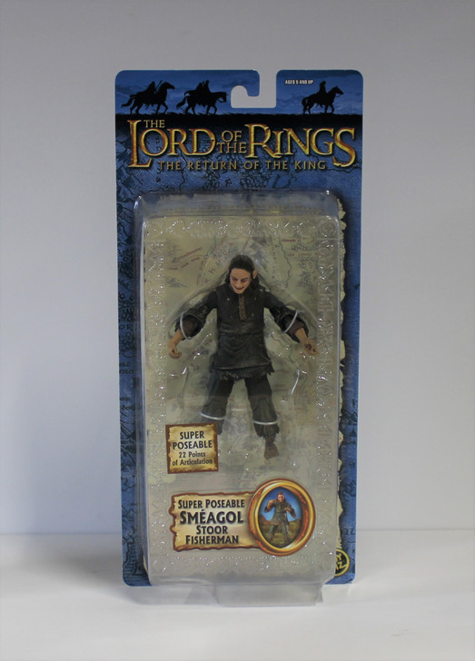ToyBiz Lord of the Rings Super Poseable Smeagol Stoor Fisherman Action Figure