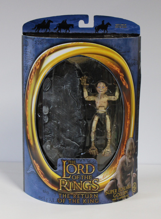 ToyBiz The Lord of the Rings Super Poseable Gollum with Crawling  Action Figure
