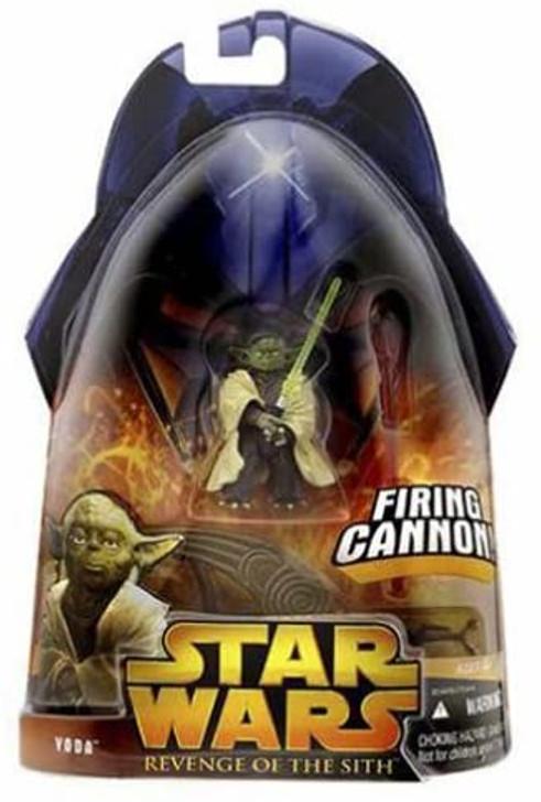 Hasbro Star Wars Revenge of the Sith Yoda Firing Cannon Action Figure