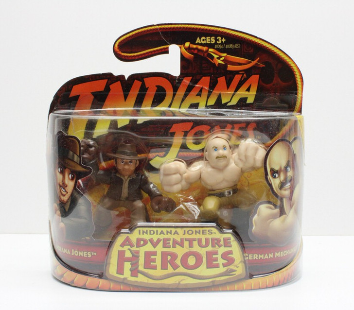 Hasbro Indiana Jones Adventure Heroes Indy and German Mechanic
