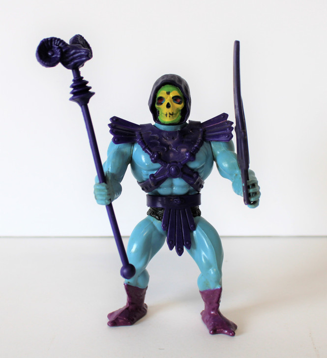 Mattel MOTU Skeletor Action Figure Mexico 1984 HARD HEAD (No package)