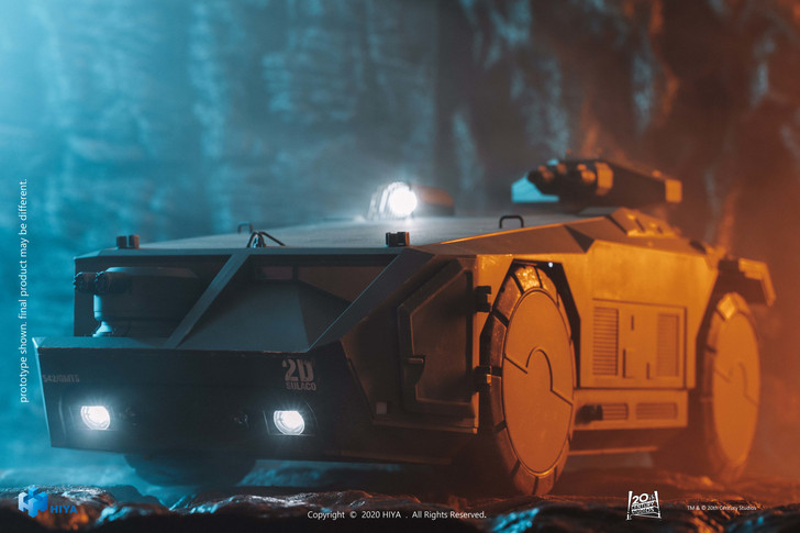 HIYA Aliens APC Green color 1/18 scale vehicle