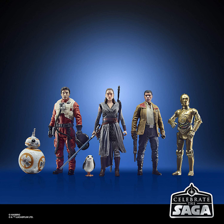 Star Wars Celebrate The Saga Toys The Resistance Figure Set, 3.75-Inch-Scale Collectible Action Figure 6-Pack
