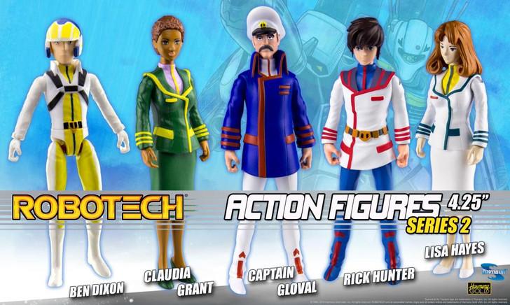 Toynami Robotech Poseable Action Figures - Asst. 2 Set of 5