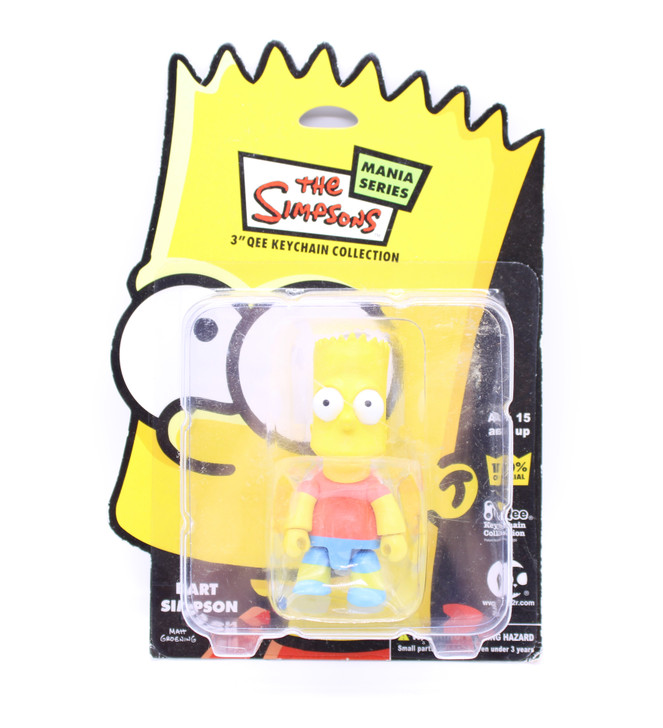 """The Simpsons Mania Series Bart Simpson 3"""" Qee Keychain Collection"""