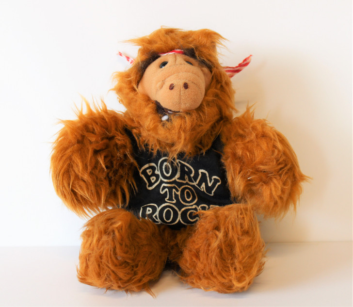 """The Many Faces of ALF """"Melmac Rock"""" plush hand puppet"""