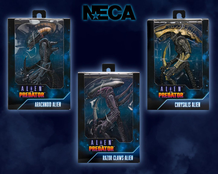 """NECA Alien - 7"""" Scale Action Figure Video Game 'What If?"""" Wave 1 Set of 3"""