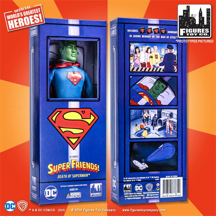 "Super Friends 8"" Action Figures Series: Death of Superman"