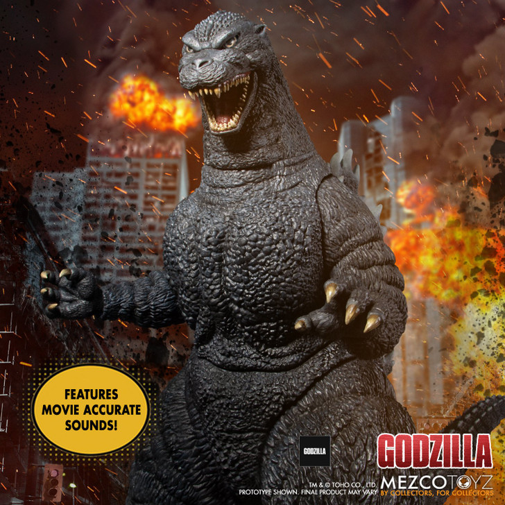 """Mezco Ultimate Godzilla 18"""" With Lights and Sounds collectors figure"""