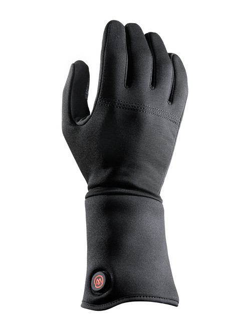 Heated glove liner with button - right hand