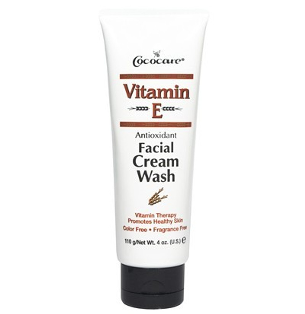 Vitamin E Antioxidant Facial Cream Wash 4 oz