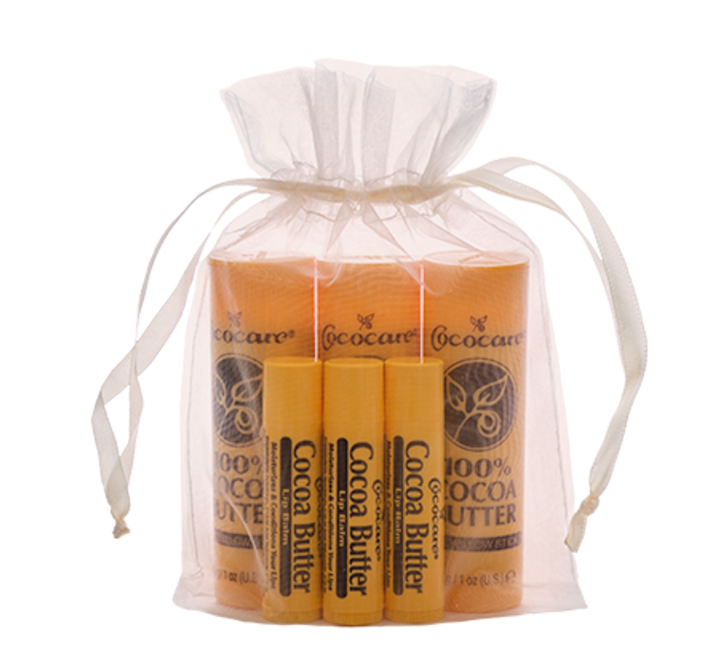 100% Cocoa Butter Stick and Cocoa Butter Lip Balm Gift Bag