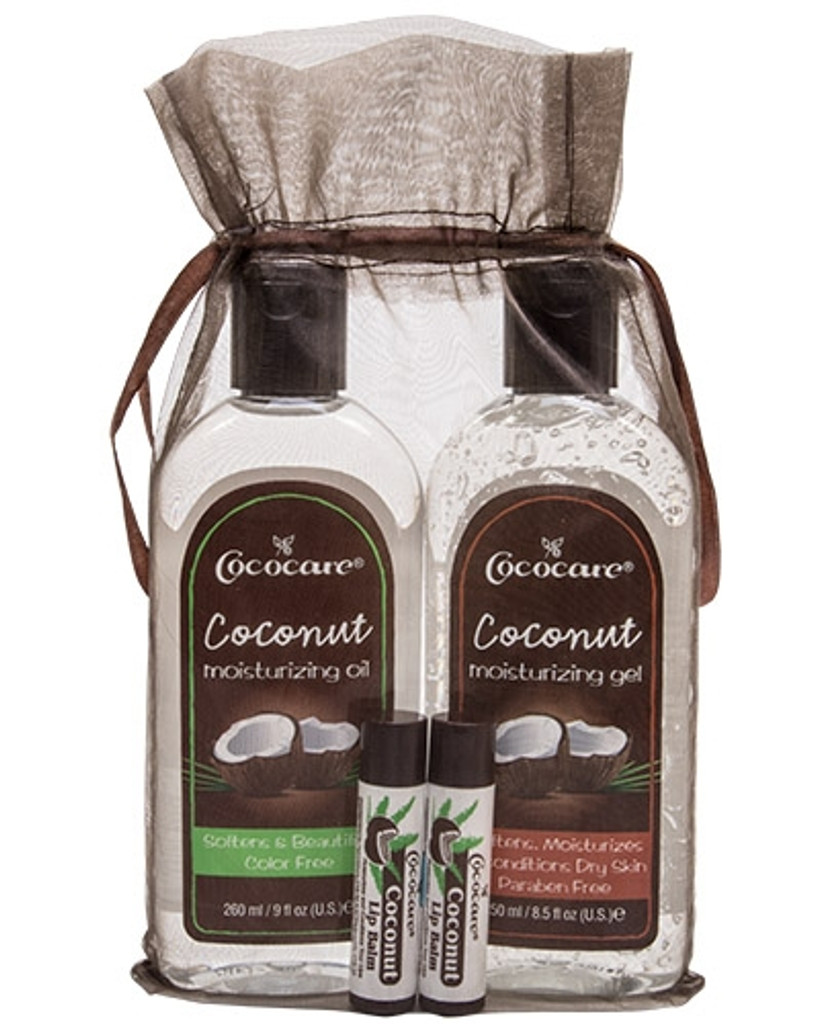 Coconut Oil Body and Lip Balm  Gift Bag
