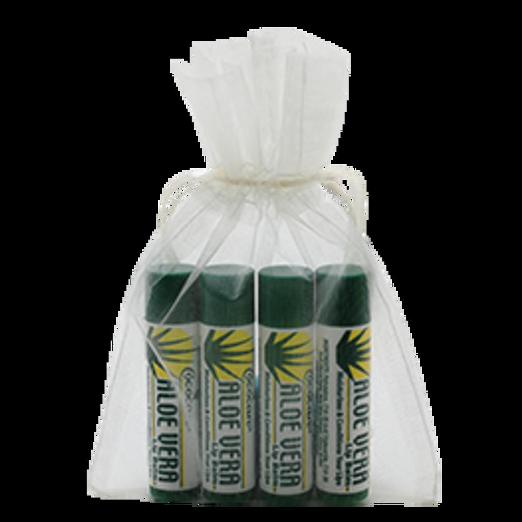 Aloe Vera 4 Piece Lip Balm Gift Bag