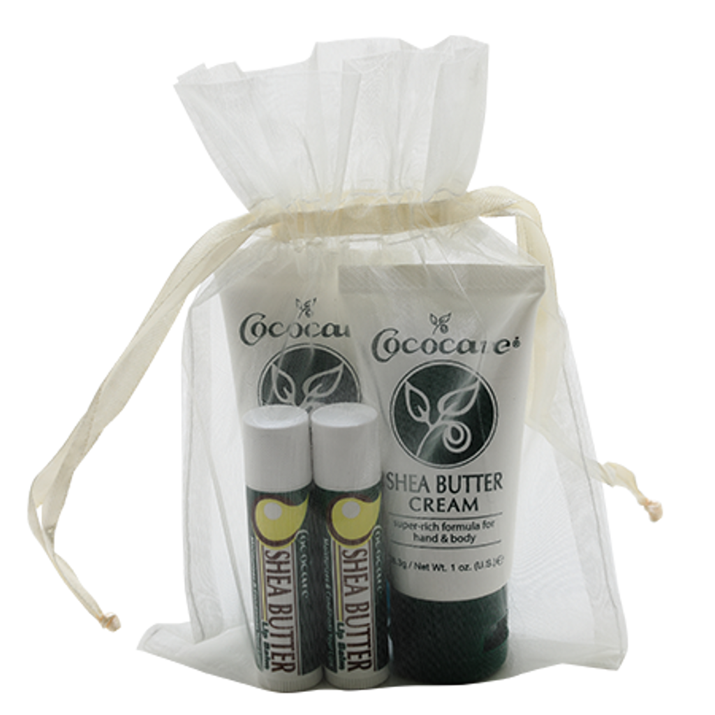Shea Butter On the Go Cream and Lip Balm Gift Bag
