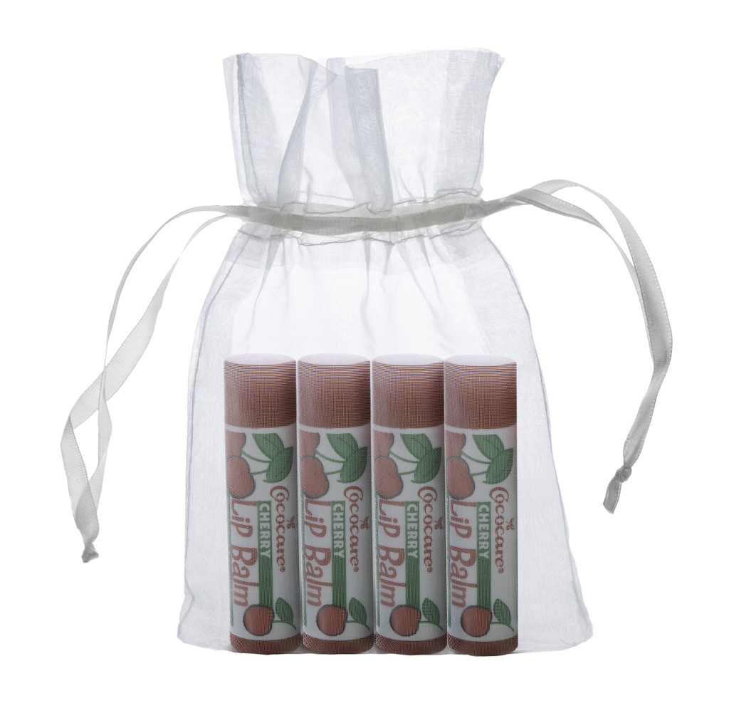 Cherry Lip Balm 4 Piece Gift Bag