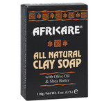 Africare All Natural Clay Soap with Olive Oil and Shea Butter 4 oz