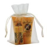 Cocoa Butter Skin and Lip Gift Bag with two Cocoa Butter Creams and two Cocoa Butter Lip Balms.