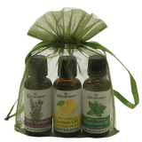 Relaxing, Refreshing and Revitalizting Aromatherapy Gift Bag with Lavender, Lemon Oil and Peppermint.