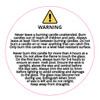 50mm Candle Safety Label