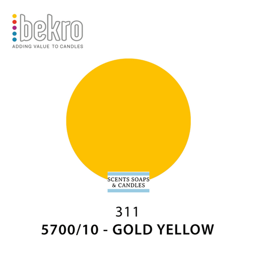 Bekro Gold Yellow Candle Dye - 5700-10