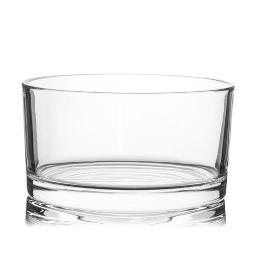 Flat Dish 55cl Clear Candle Glass