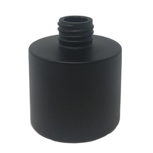 100ml Circular Matt Black Reed Diffuser Glass Bottle