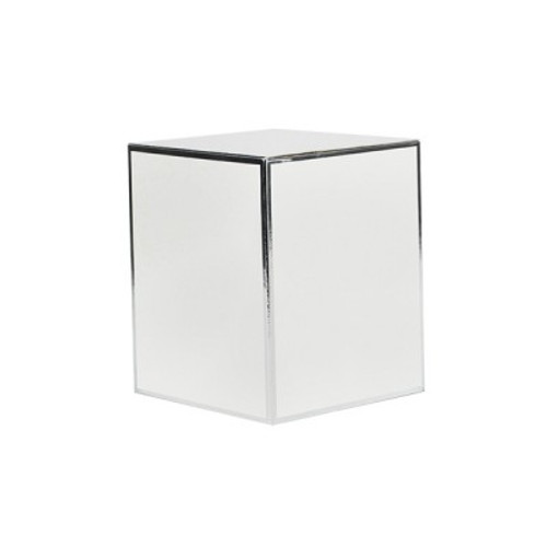 White Candle Box Silver Edge Medium