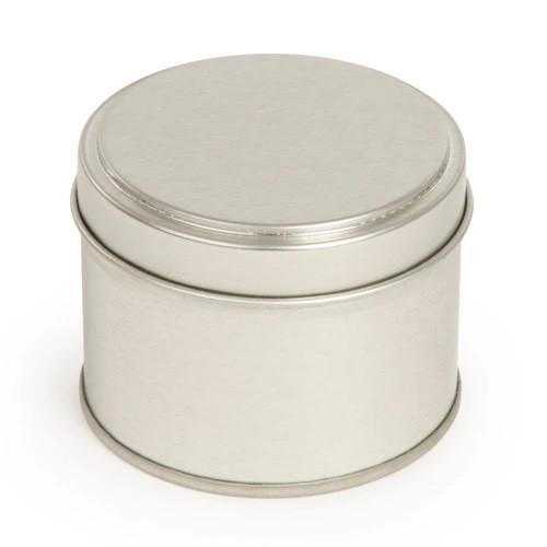 Silver 250ml Candle Tin and Lid