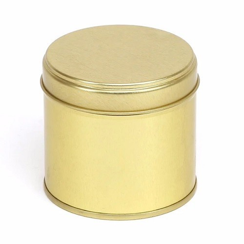 Gold 100ml Candle Tin and Lid