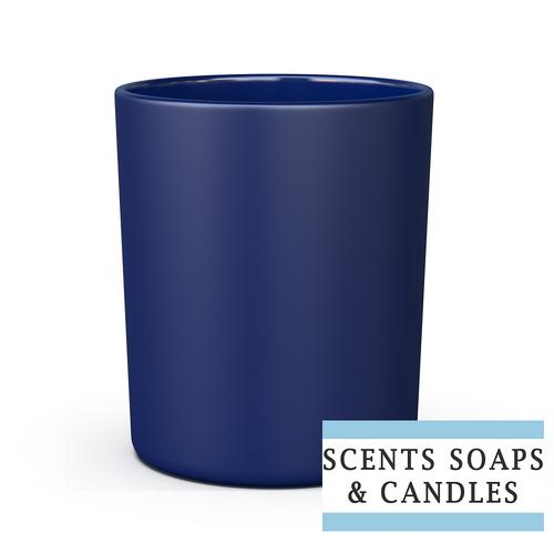 30cl Lucy Matt Blue Candle Glass