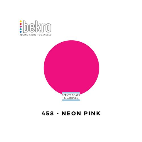 Bekro Neon Pink Candle Dye - 458