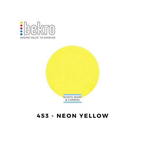 Bekro Neon Yellow Candle Dye - 453