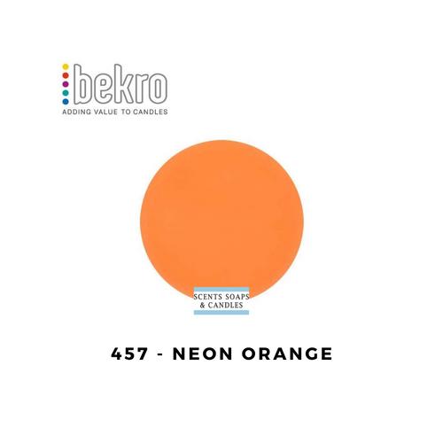 Bekro Neon Orange Candle Dye - 457