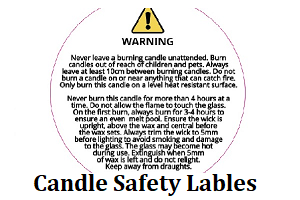 Candle Safety Labels