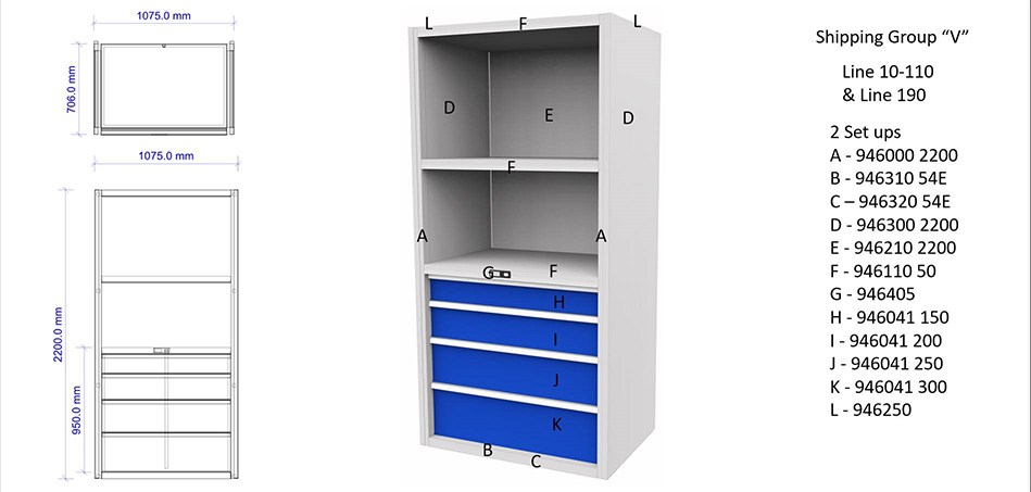 Garant Group of 2 Wall Unit Components