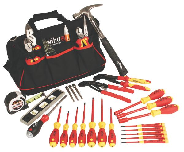 Wiha Journeyman's Tool Set 30 Pieces with VDE German Screwdrivers and Wiha bag