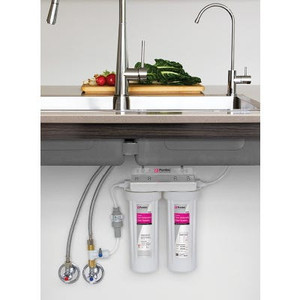 WATER FILTER SYSTEM TWIN UNDERSINK