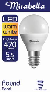 GLOBE LED ROUND SES 6W 450LM W/WHITE